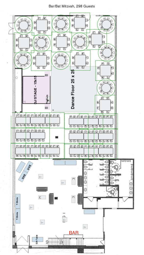 Eglington West Gallery Bar Mitzvah Floor Plan