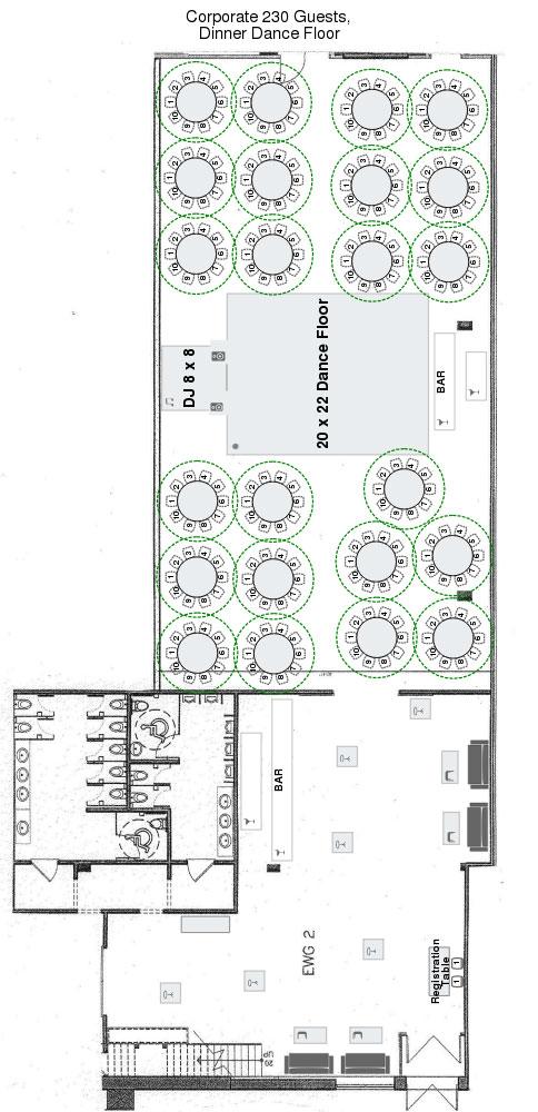 Eglinton West Gallery Corporate Events Floor Plan
